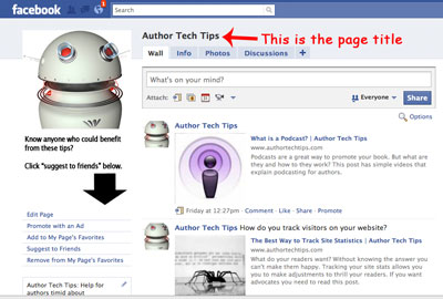 How to Pick The Right Facebook Page Title - Author Media
